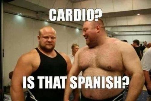cardio meme 7 weeks out from nabba north britain weekly recap