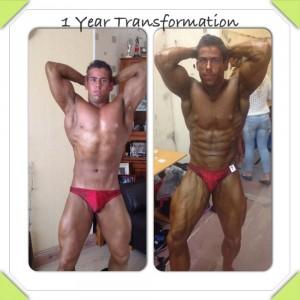 1 Year Bodybuilding Transformation