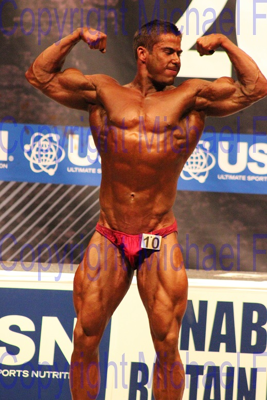 NABBA Britain Finals Adam Double Bicep