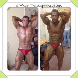NABBA 1 year transformation
